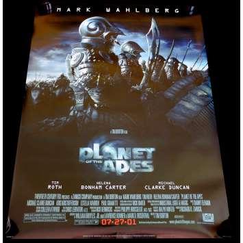 PLANETE DES SINGES Affiche de film 69x104 - 2002 - Michael Whalberg, Tim Burton