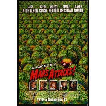 MARS ATTACKS Affiche de film 69x104 - 2002 - Jack Nicholson, Tim Burton