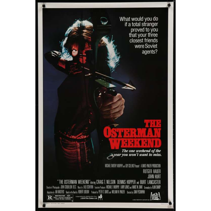 OSTERMAN WEEKEND US Movie Poster 29x41 - 1983 - Sam Peckinpah, Rutger Hauer