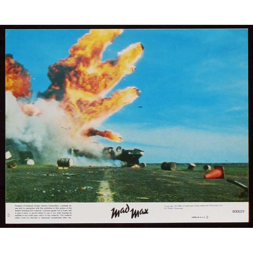 MAD MAX US Lobby Card 1 8x10 - 1979 - George Miller, Mel Gibson