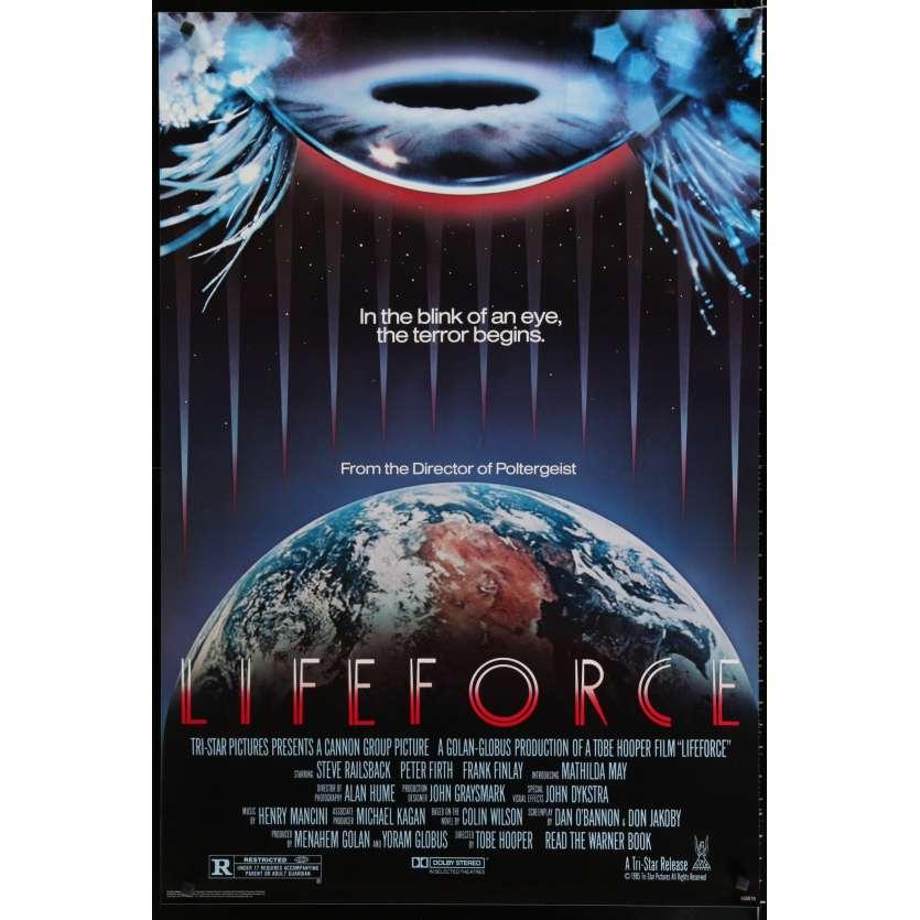 LIFEFORCE US Movie Poster 29x41 - 1985 - Tobe Hooper, Mathilda May