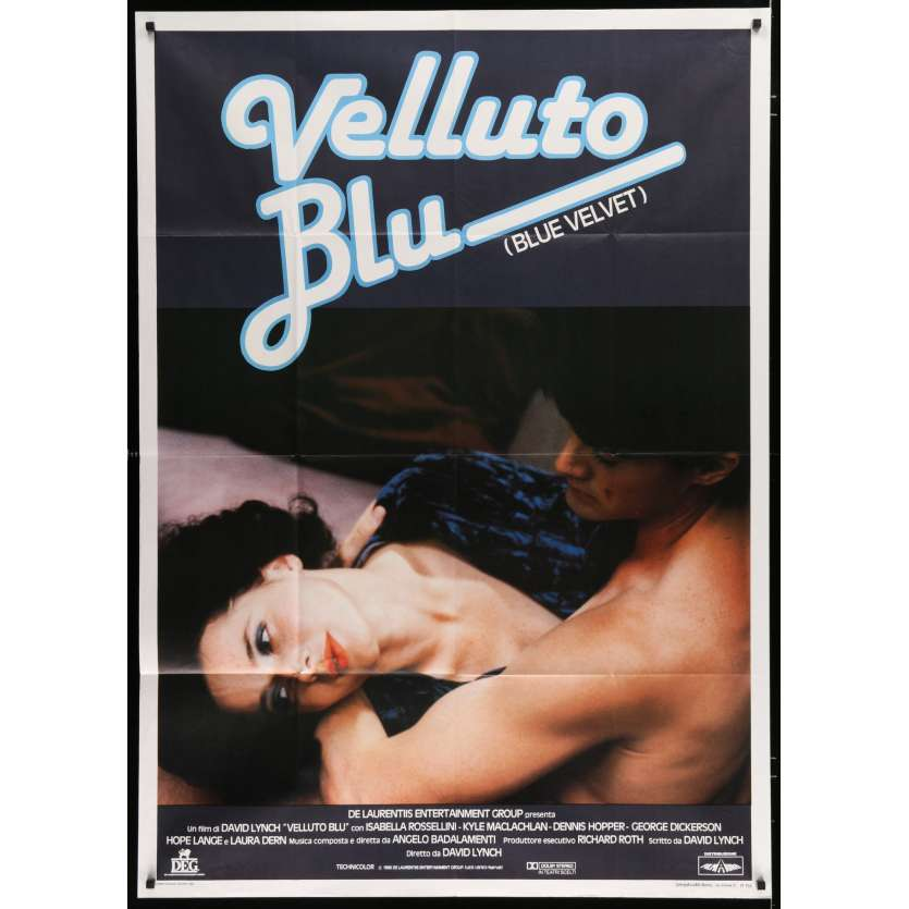 BLUE VELVET Italian Movie Poster 39x55 - 1986 - David Lynch, Isabella Rosselini