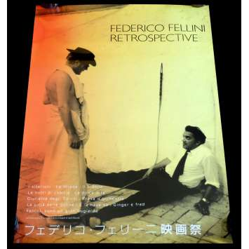 FELLINI FESTA IN TOKYO Japanese Movie Poster 20x29 - 2000 - Federico Fellini, Marcello Mastroiani