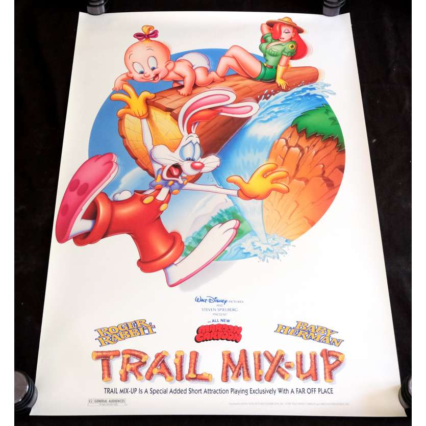 ROGER RABBIT - TRAIL MIX-UP Affiche de film 69x104 - 1988 - Bob Hoskins, Robert Zemeckis