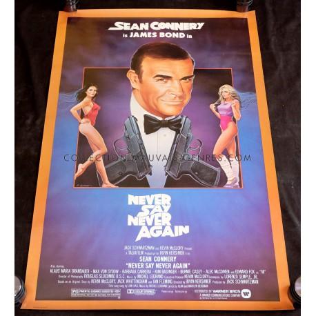 JAMAIS PLUS JAMAIS Affiche de film James Bond 69x104 - 1983 - Sean Connery, Irvin Keshner