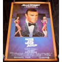 NEVER SAY NEVER AGAIN US Movie Poster James Bond 29x56 - 1983 - Irvin Keshner, Sean Connery