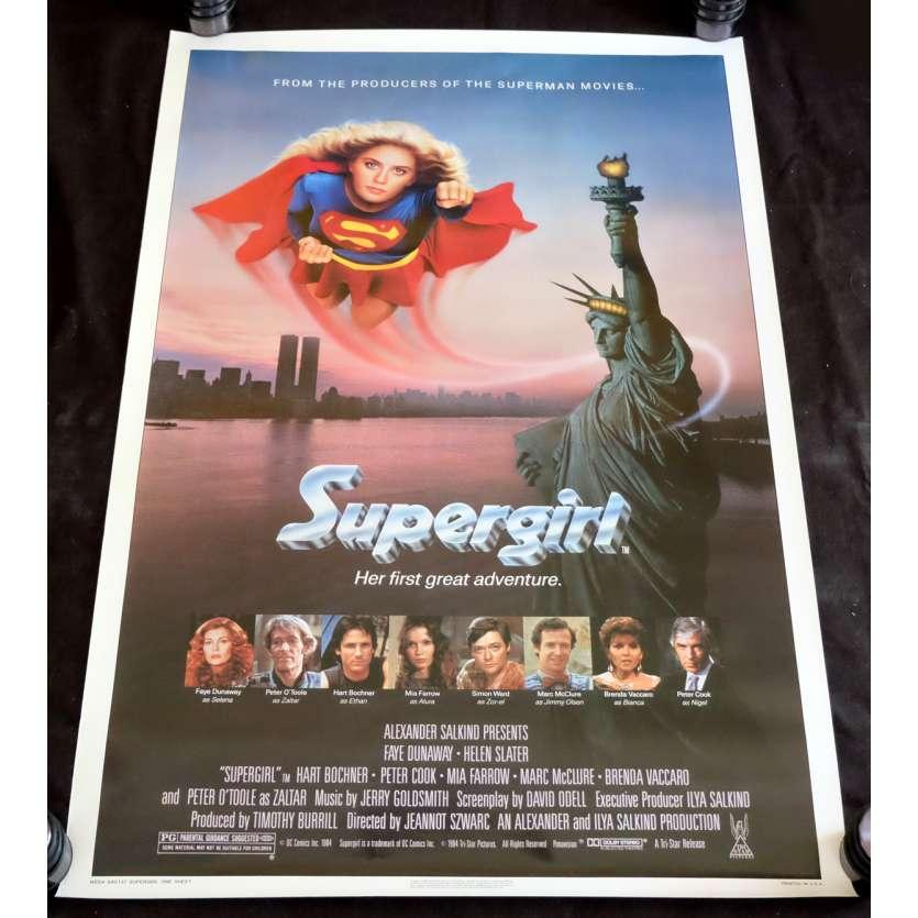 SUPERGIRL Affiche de film 69x104 - 1984 - Faye Dunaway, Jeannot Szwarc