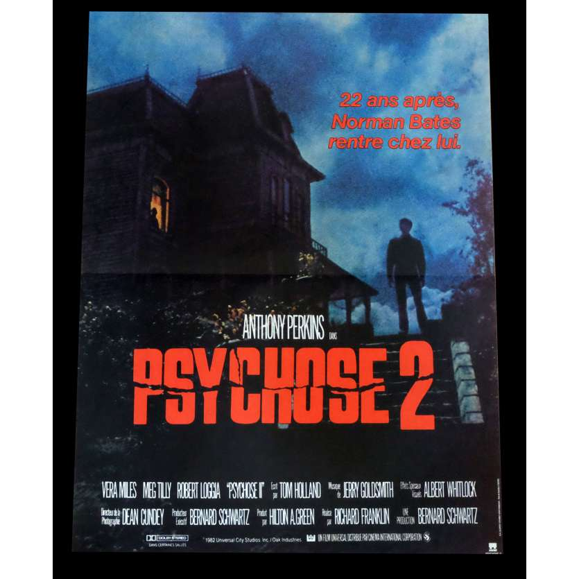 PSYCHOSE 2 Affiche de film 40x60 - 1983 - Anthony Perkins, Richard Franklin