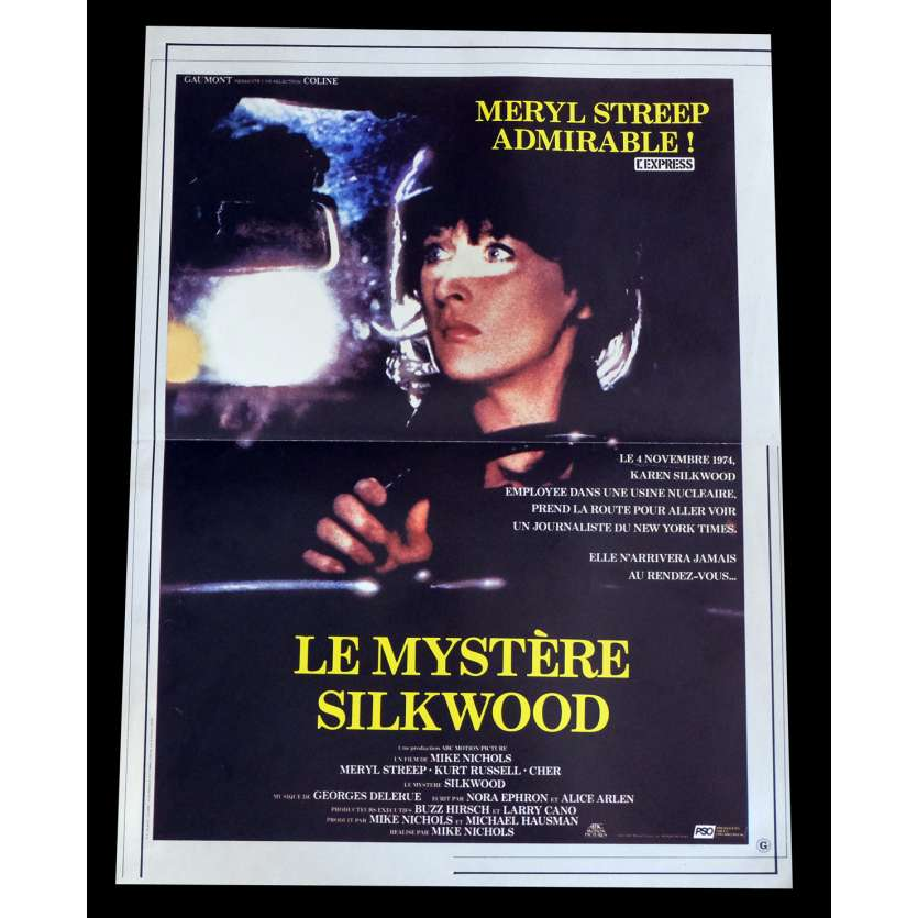 LE MYSTERE SILKWOOD Affiche de film 40x60 - 1983 - Meryl Streep, Mike Nichols
