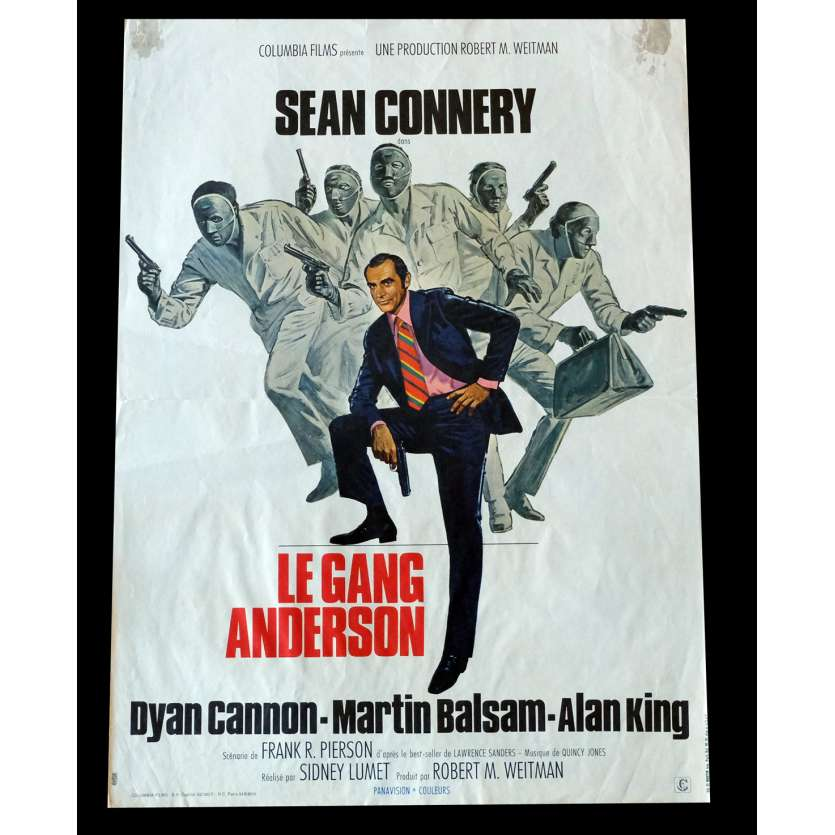 THE ANDERSON TAPES French Movie Poster 15x21 - 1971 - Sidney Lumet, Sean Connery