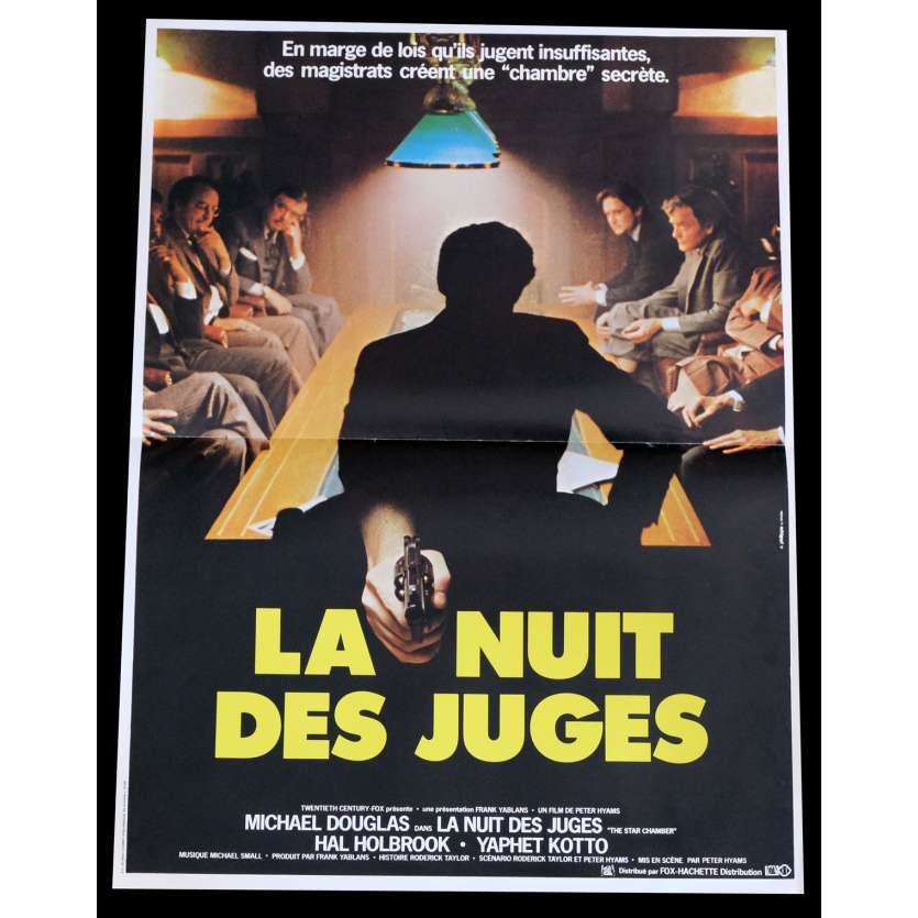 THE STAR CHAMBER French Movie Poster 15x21 - 1983 - Peter Hyams, Michael Douglas