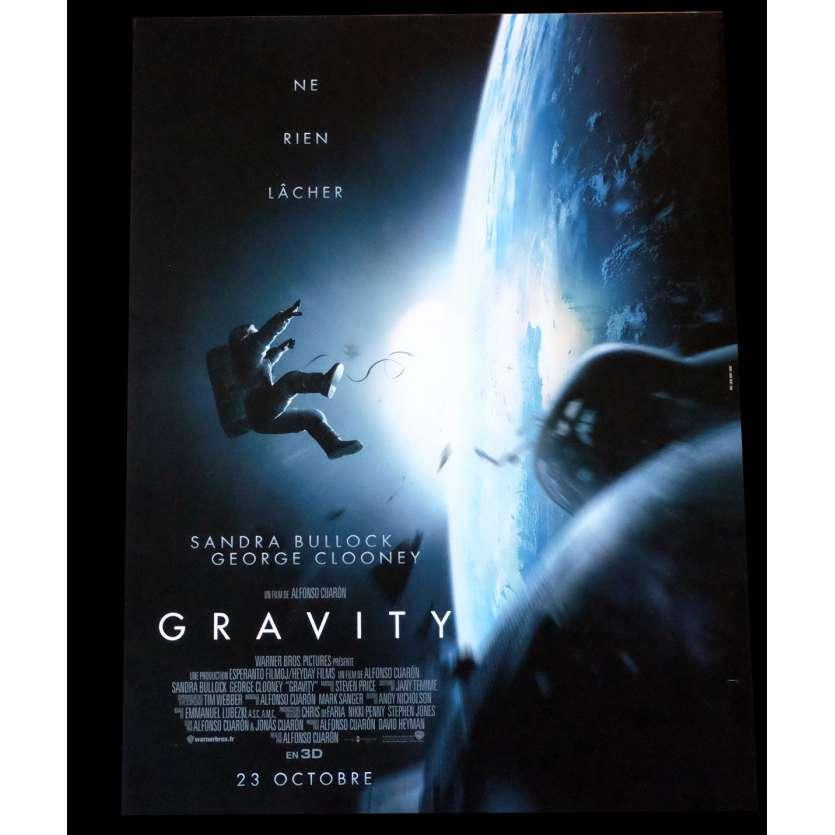 GRAVITY French Movie Poster 15x21 - 2013 - Alfonso Cuaron, Sandra Bullock