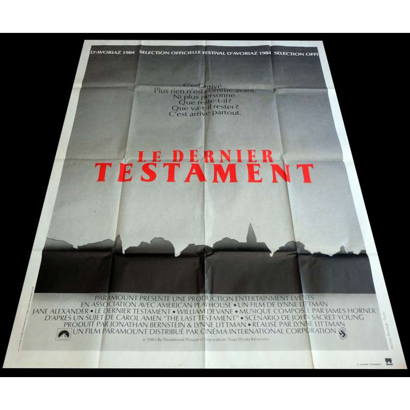 TESTAMENT French Movie Poster 47x63 - 1983 - Lynne Littman, Jane Alexander