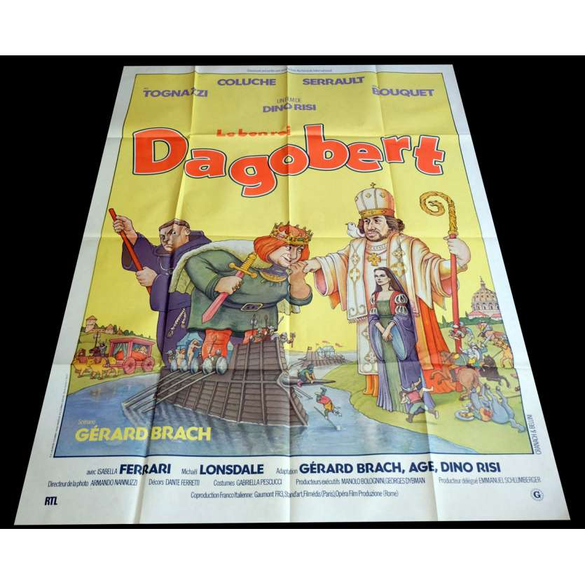 LE BON ROI DAGOBERT Affiche de film 120x160 - 1984 - Coluche, Dino risi