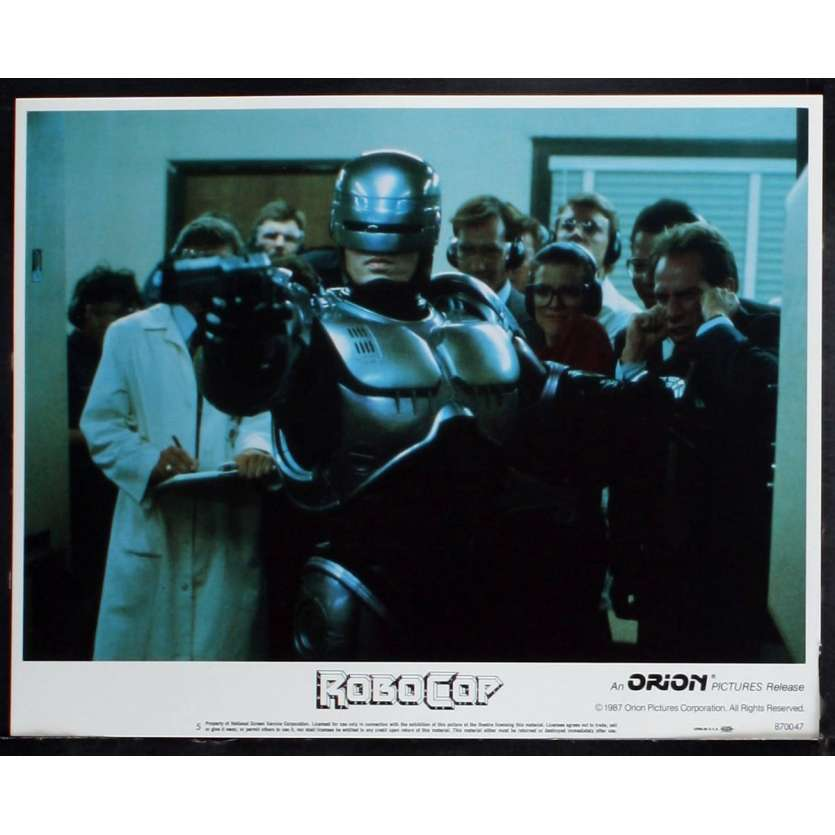 ROBOCOP US Lobby card N4 11x14 - 1987 - Paul Verhoeven, Peter Weller