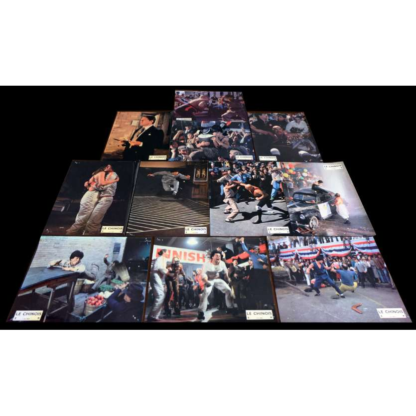 THE BIG BRAWL French Lobby Cards x11 9x12 - 1980 - Robert Clouse, Jackie Chan
