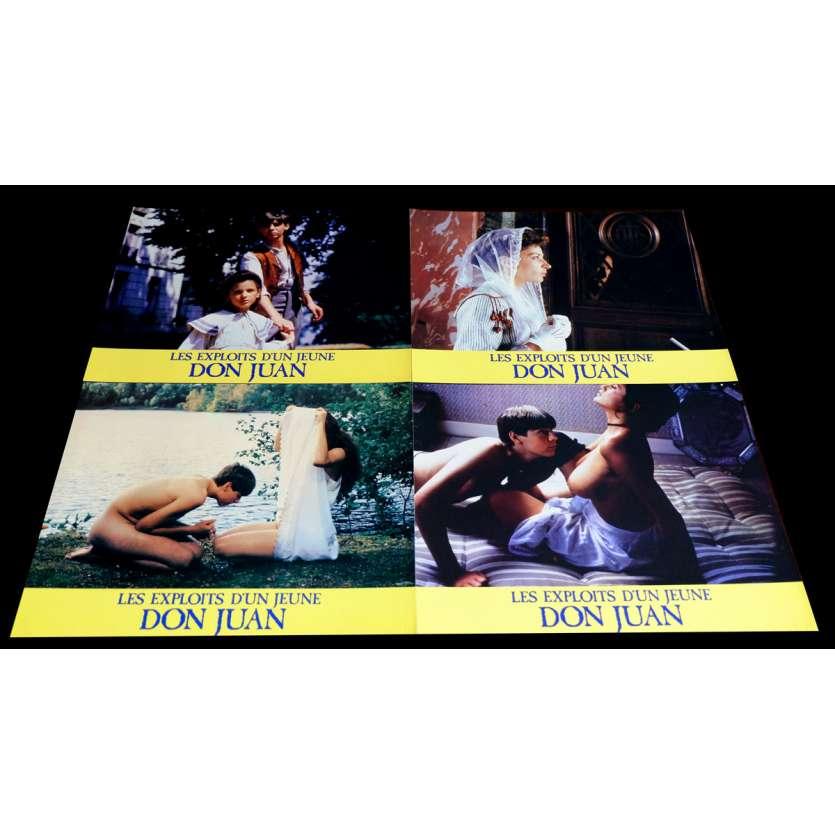 LES EXPLOITS D'UN JEUNE DOM JUAN Photos x4 21x30 - 1987 - Viriginie Ledoyen, Gianfranco Mingozzi