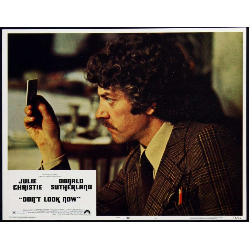 DON'T LOOK NOW US Lobby Card 1 11x14 - 1974 - Nicholas Roeg, Donald Sutherland