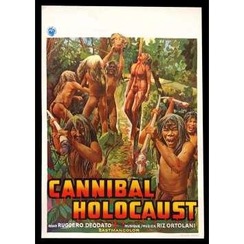 CANNIBAL HOLOCAUST Belgian Movie Poster 14x22 - 1980 - Ruggero Deodato, Francesca Ciardi