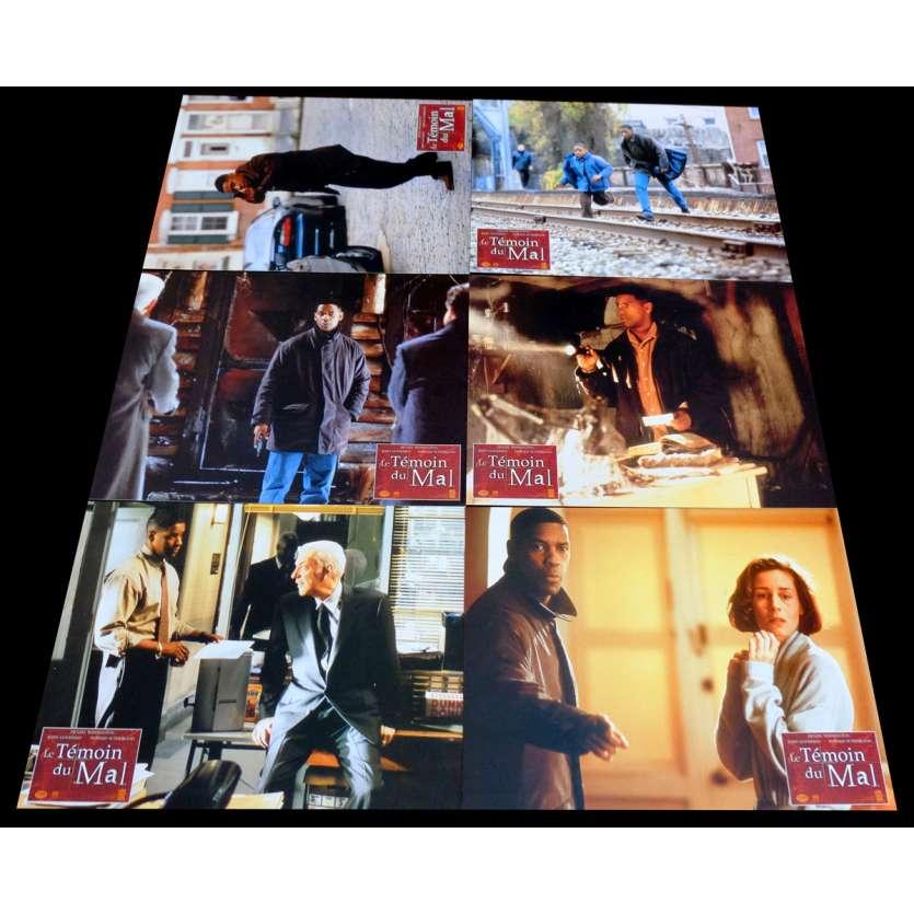 FALLEN French Lobby Cards x6 9x12 - 1998 - Gregory Hoblit, Denzel Washington