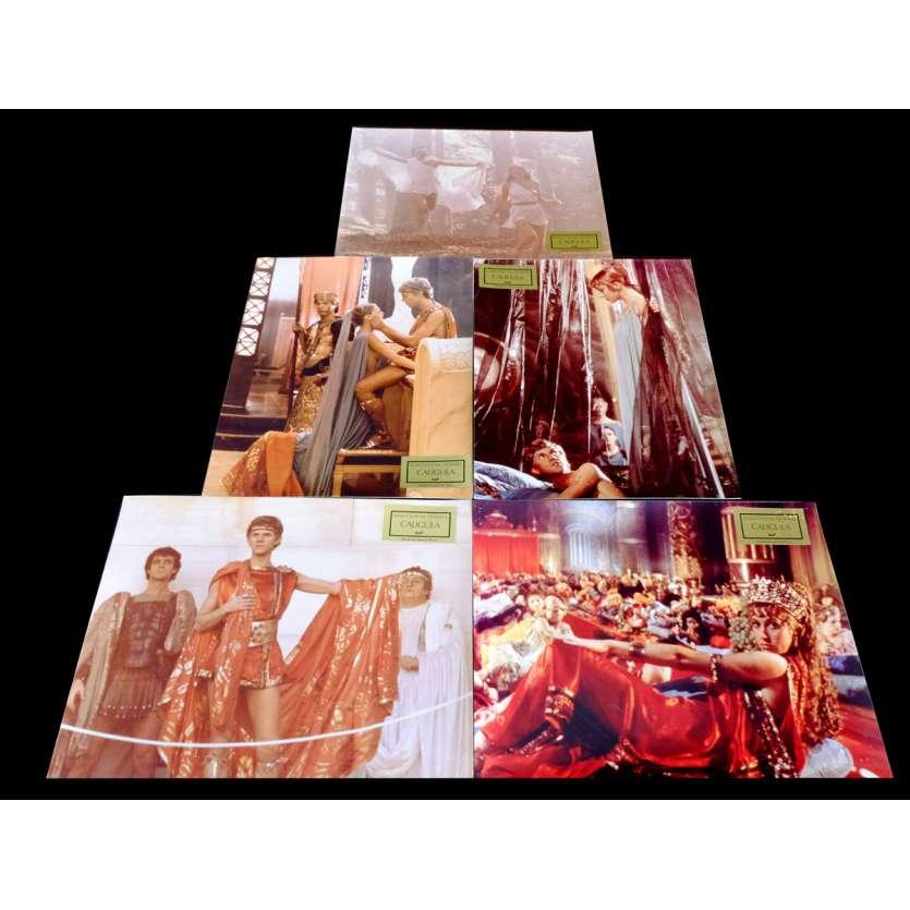 CALIGULA French Lobby Cards x5 9x12 - 1979 - Tinto Brass, Malcom McDowell