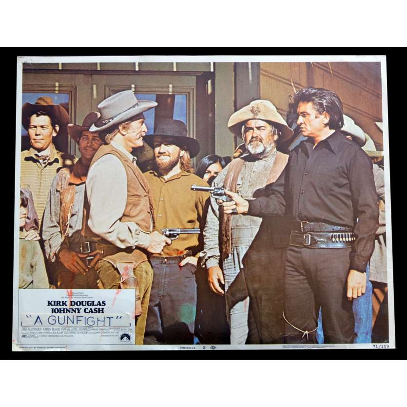 A GUNFIGHT US Lobby Card 2 11x14 - 1971 - Kirk Douglas, Johnny Cash