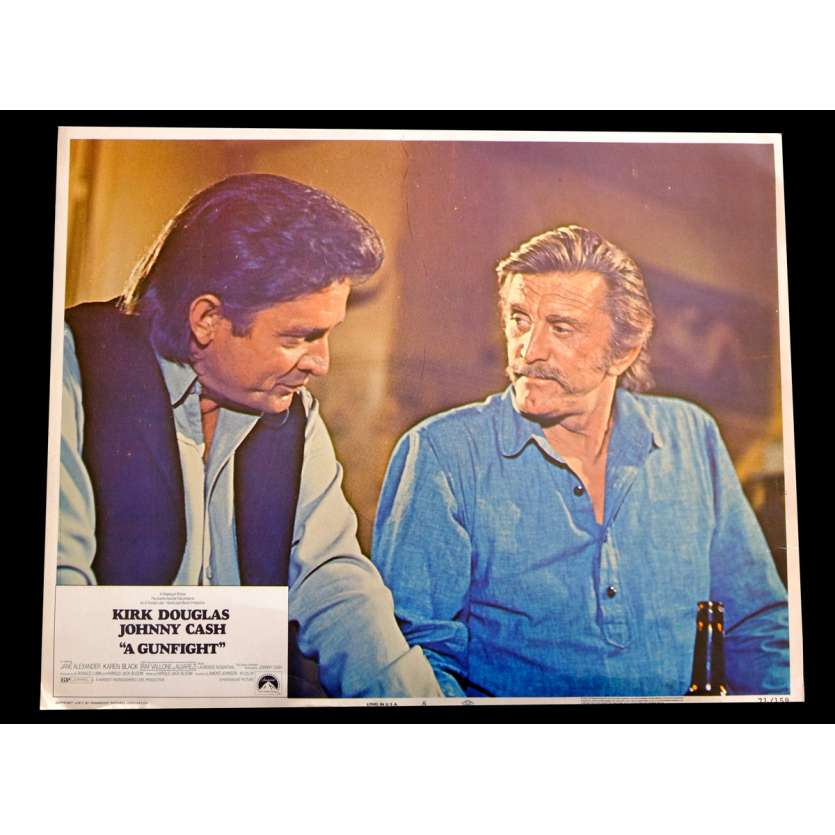 A GUNFIGHT US Lobby Card 1 11x14 - 1971 - Kirk Douglas, Johnny Cash