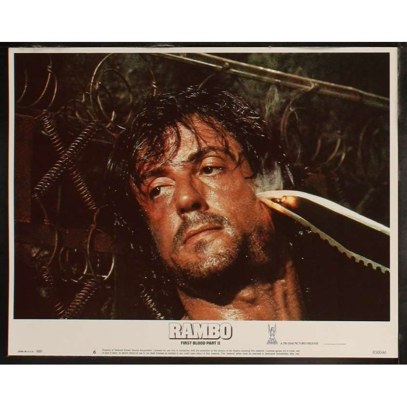 RAMBO FIRST BLOOD II US Lobby Card 3 11x14 - 1985 - George Pan Cosmatos, Sylvester Stallone