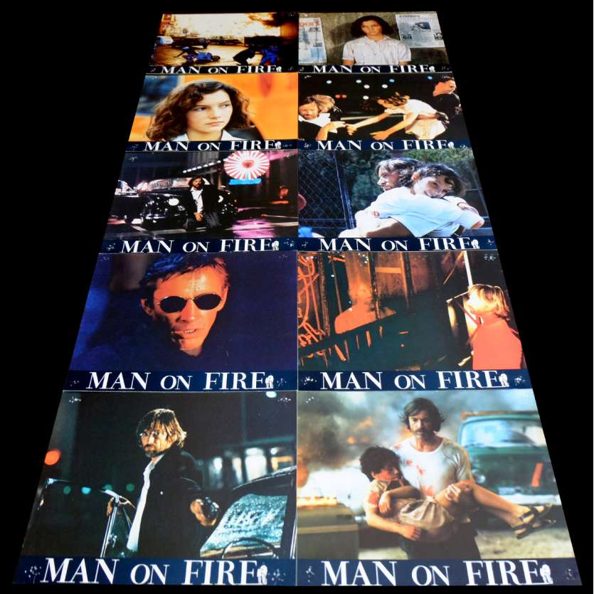 MAN OF FIRE French Lobby Cards x10 9x12 - 1987 - Elie Chouraqui, Scott Glenn