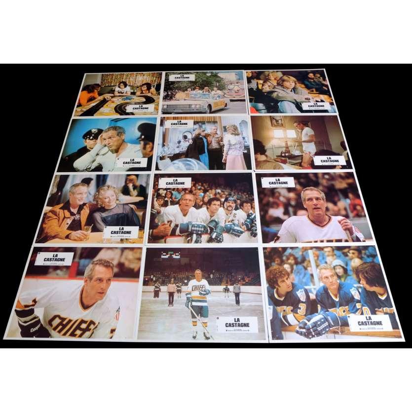 SLAP SHOT French Lobby Cards x12 9x12 - 1977 - George Roy Hill, Paul Newman