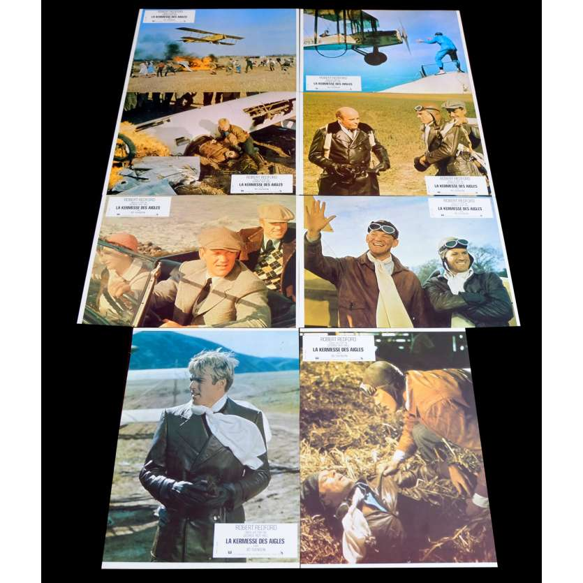 THE GREAT WALDO PEPPER French Lobby Cards x8 9x12 - 1975 - George Roy Hill, Robert Redford