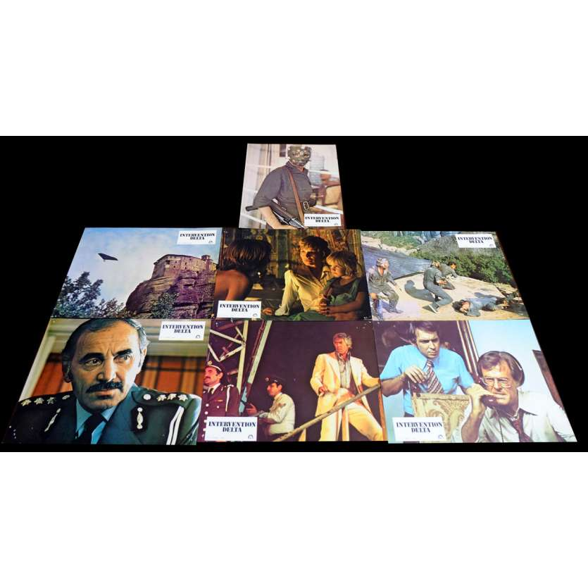 SKY RIDERS French Lobby Cards x7 9x12 - 1976 - Douglas Hickox, James Coburn