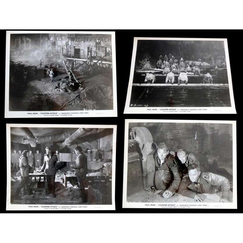 COUNTER ATTACK US Still x3 8x10 - 1945 - Zoltan Korda, Paul Muni