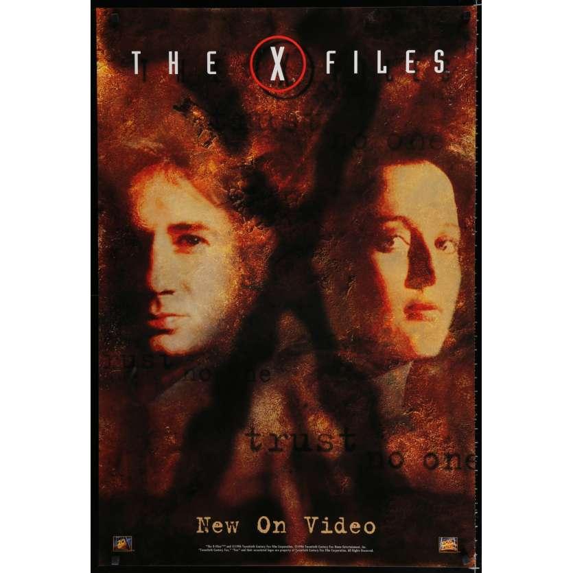 X-FILES Affiche Vidéo A 70x100 - 1996 - David Duchowny, Rob Bowman