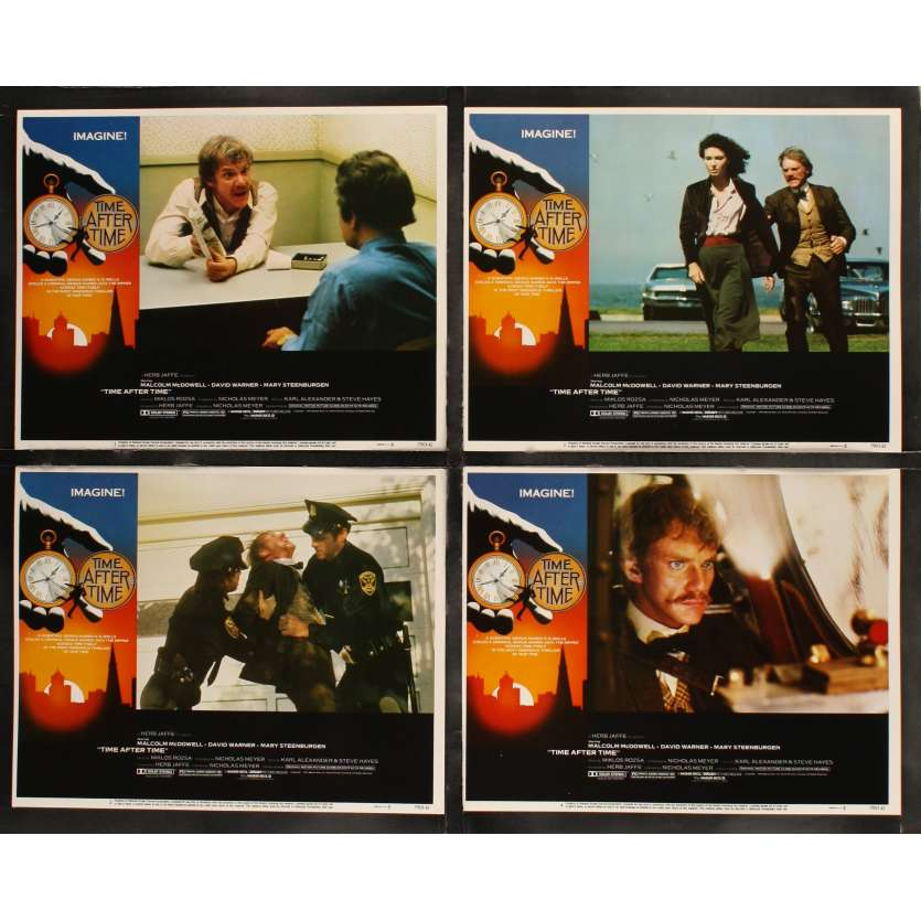 TIME AFTER TIME US Lobby Cards x8 11x14 - 1979 - Nicholas Meyer, Malcom McDowell