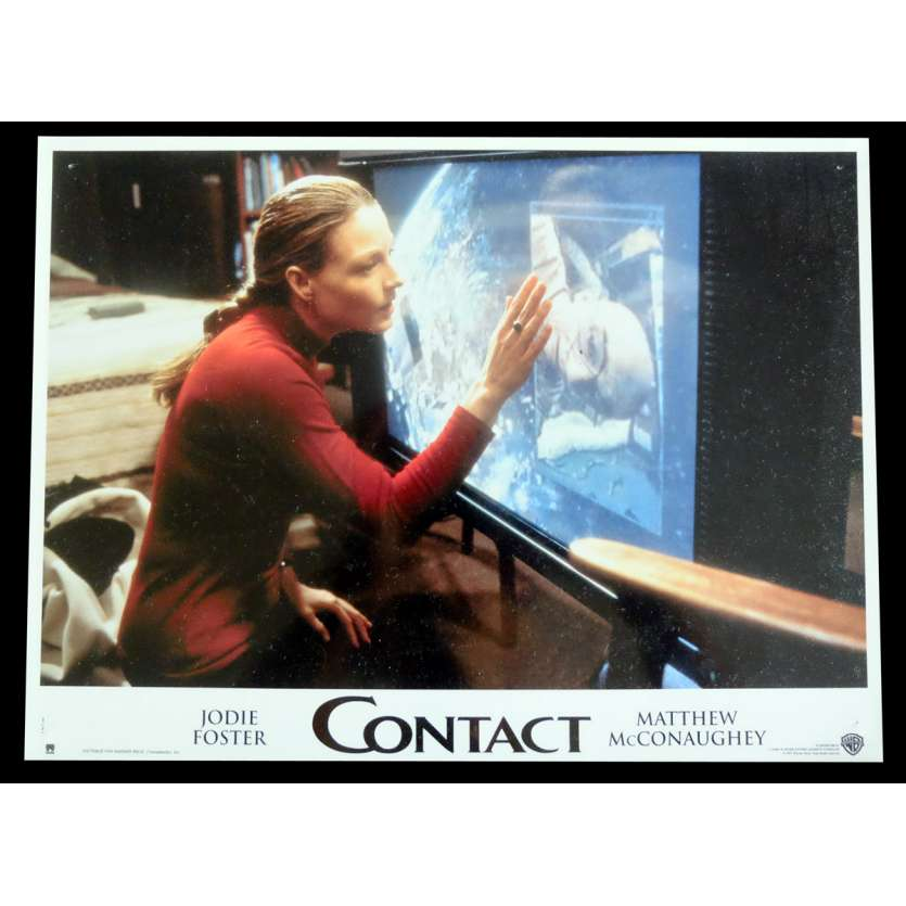 CONTACT French Lobby Card 3 9x12 - 1997 - Robert Zemeckis, Jodie Foster