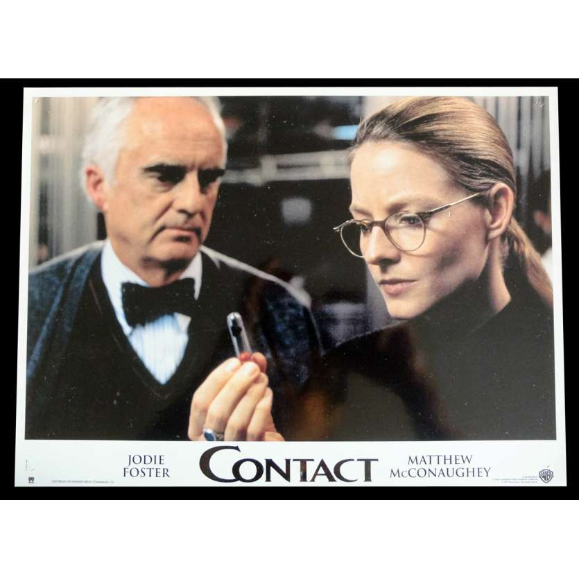 CONTACT French Lobby Card 2 9x12 - 1997 - Robert Zemeckis, Jodie Foster