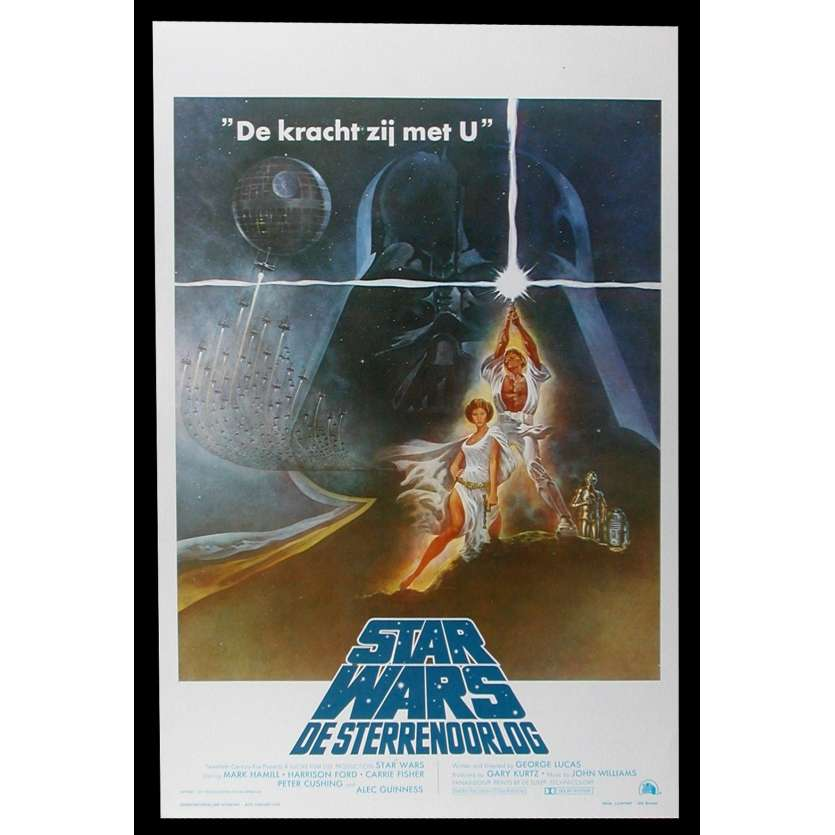 STAR WARS - A NEW HOPE Belgian Movie Poster 14x22 - 1977 - George Lucas, Harrison Ford