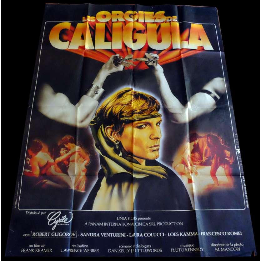 ORGIES DE CALIGULA Affiche de film 120x160 - 1984 - Lorenzo Onorati, érotique,