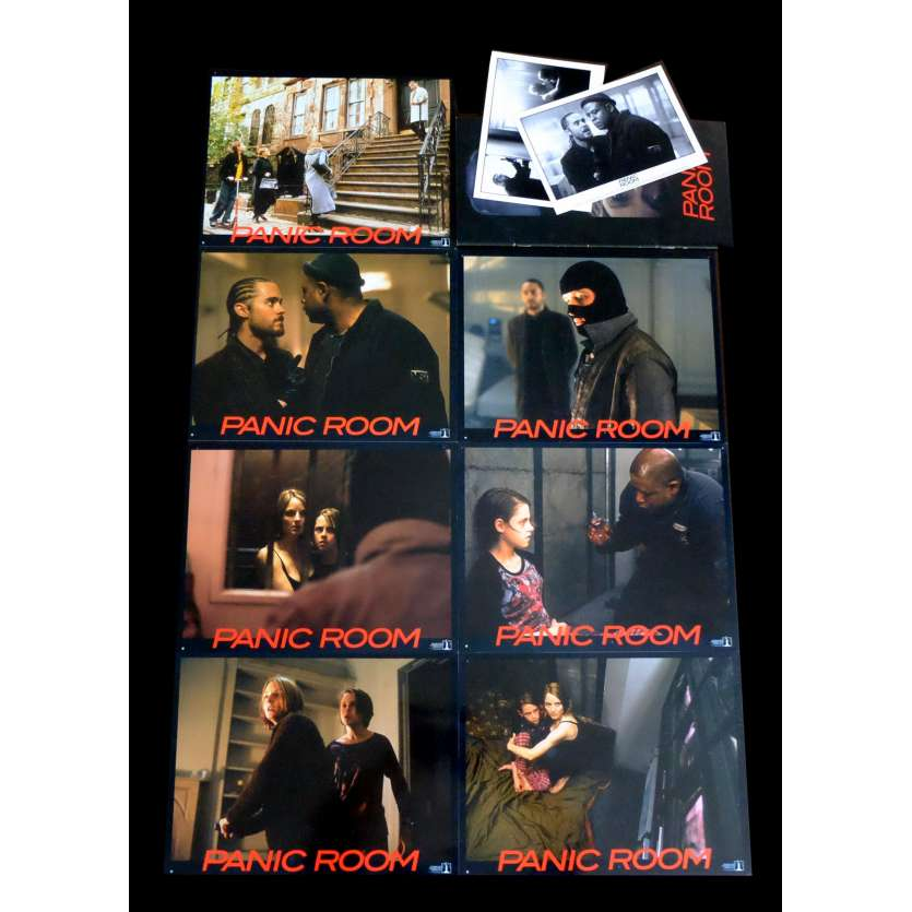 PANIC ROOM French Lobby cards x9 9x12 - 2002 - David Fincher, Jodie Foster