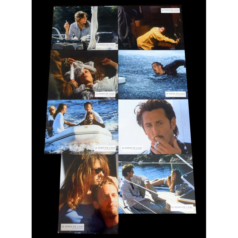 THE WEIGHT OF WATER French Lobby cards x8 9x12 - 2000 - Kathryn Bigelow, Sean Penn