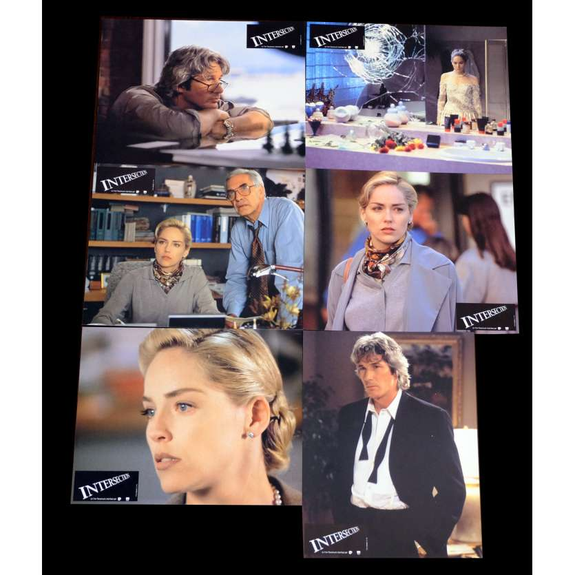 INTERSECTION French Lobby cards x6 9x12 - 1993 - Mark Rydell, Sharon Stone