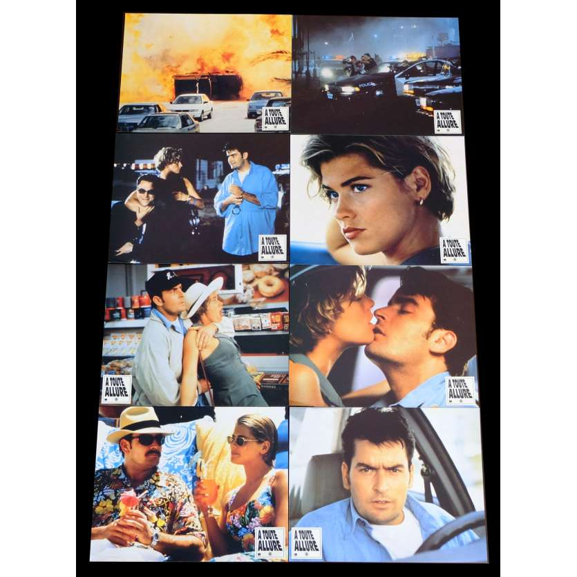 THE CHASE French Lobby cards x8 9x12 - 1994 - Adam Rifkin, Charlie Sheen
