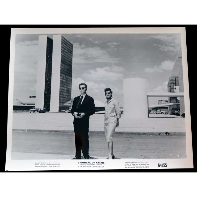 CARNIVAL OF CRIME US Press Still 1 8x10 - 1964 - George Cahan, Jean-Pierre Aumont