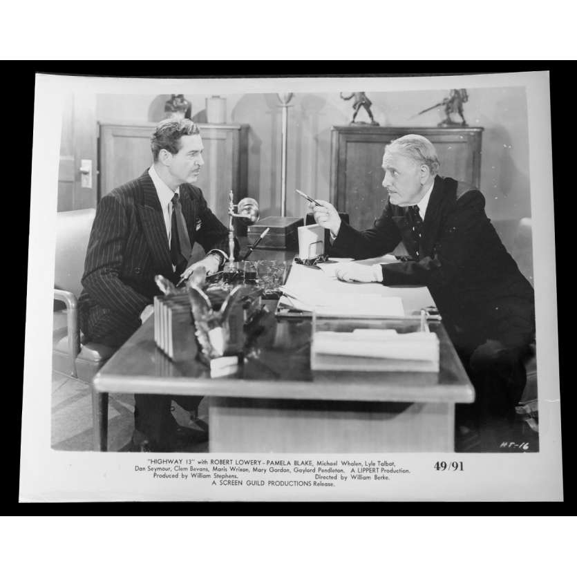 HIGHWAY 13 US Press Still 8x10 - 1949 - William Berke, Robert Lowery