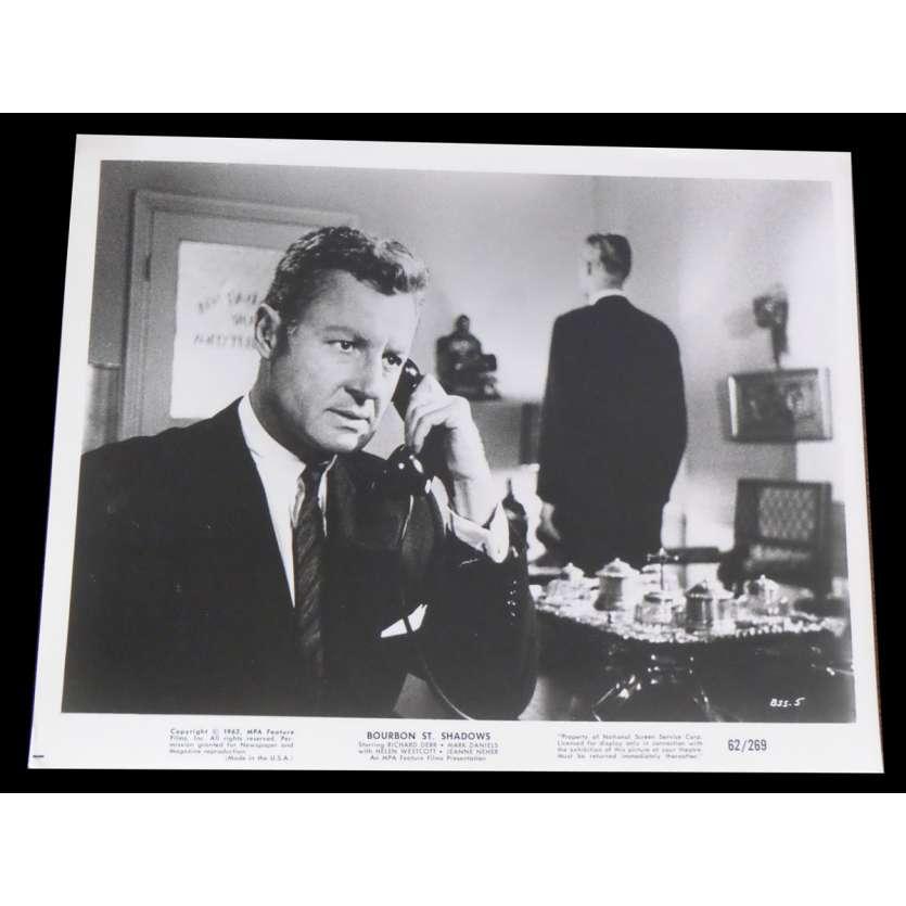 INVISIBLE AVENGER / BOURBON ST SHADOWS US Press Still 8x10 - 1962 - James Wong Howe, Richard Derr