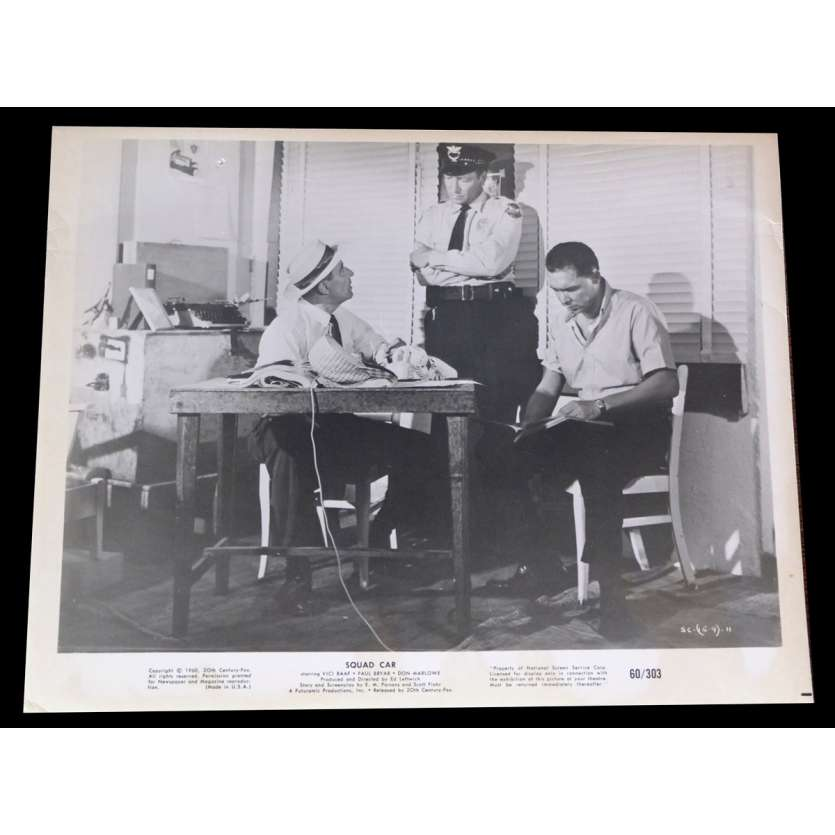 SQUAD CAR US Press Still 8x10 - 1960 - Ed Leftwich, Vici Raaf