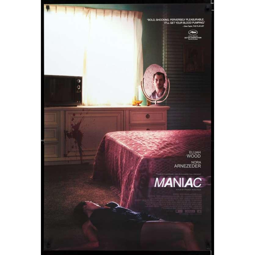 MANIAC Affiche de film 69x104 - 2012 - Elijah Wood, Franck Khalfoun