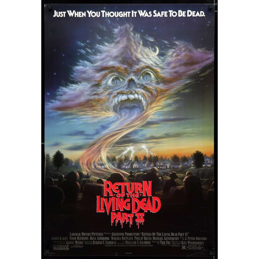 RETURN OF THE LIVING DEAD 2 US Movie Poster 29x41 - 1988 - Ken Wiederhorn, James Karen