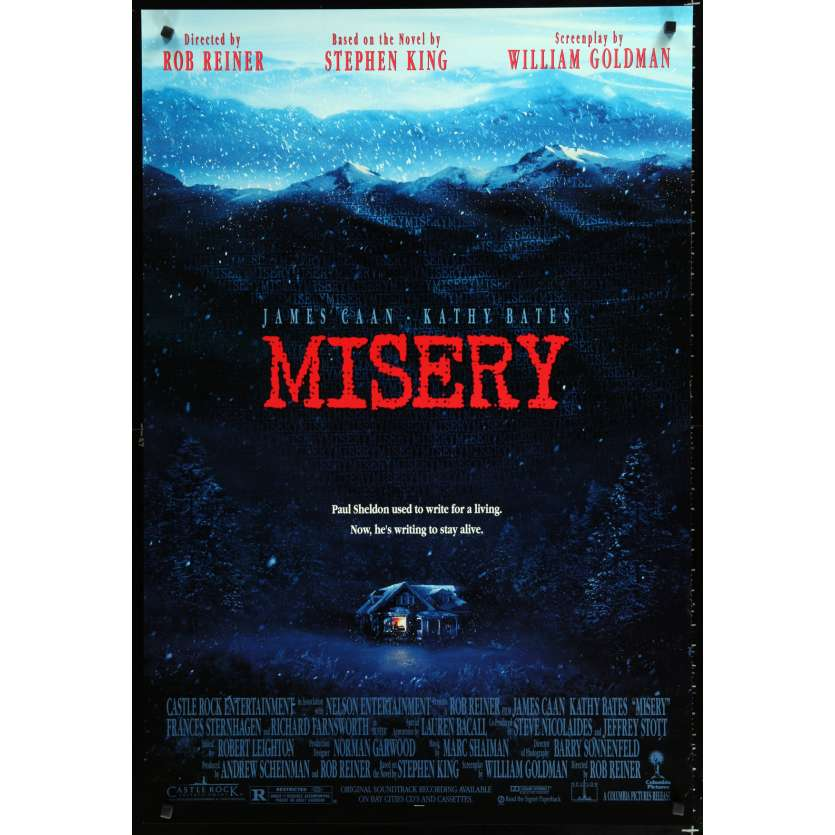 MISERY US Movie Poster 29x41 - 1990 - Rob Reiner, James Caan